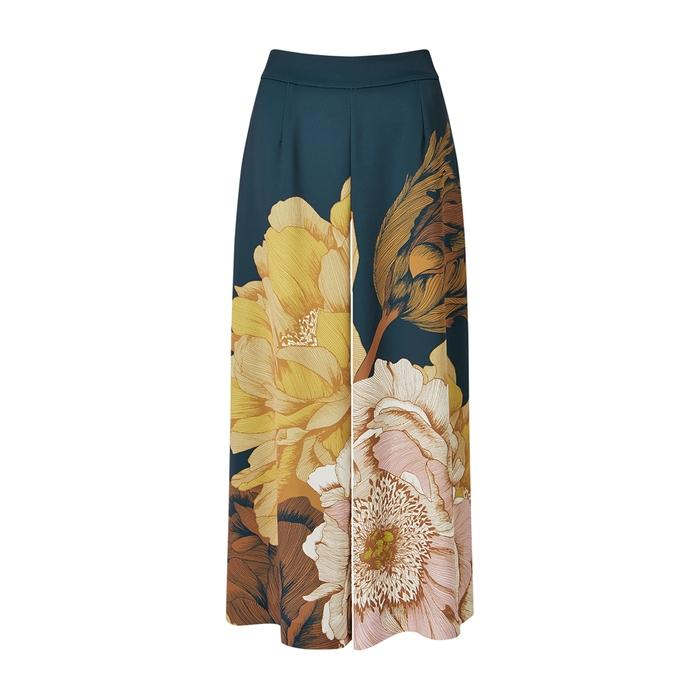 meet detailed images quality design Peony Circular Culottes