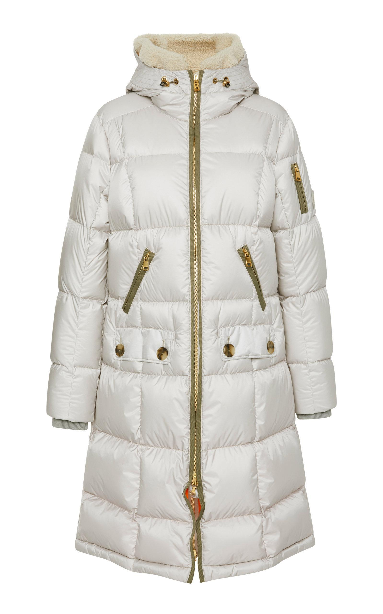 85b5580eb Malen-D Metallic Quilted Down Coat in Neutral