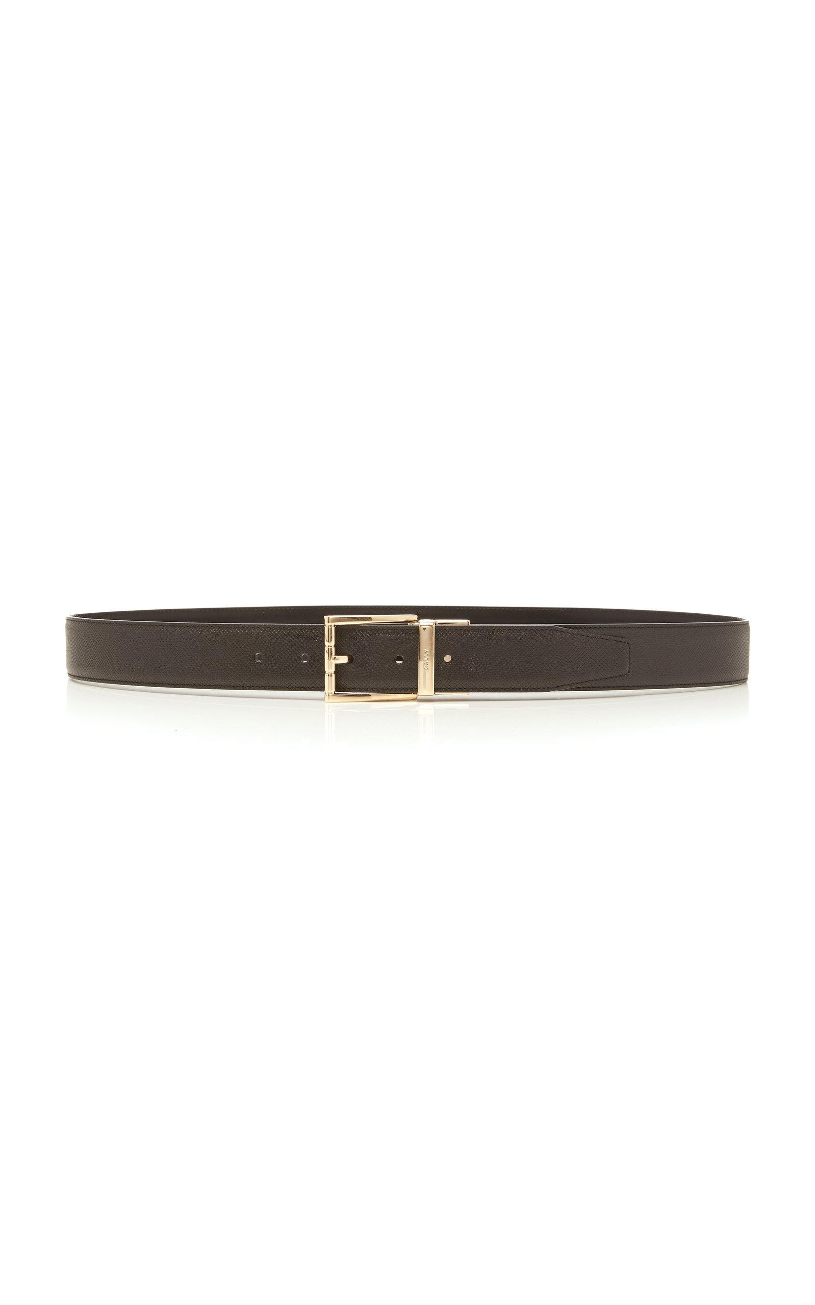Bally Astor Black Leather Belt
