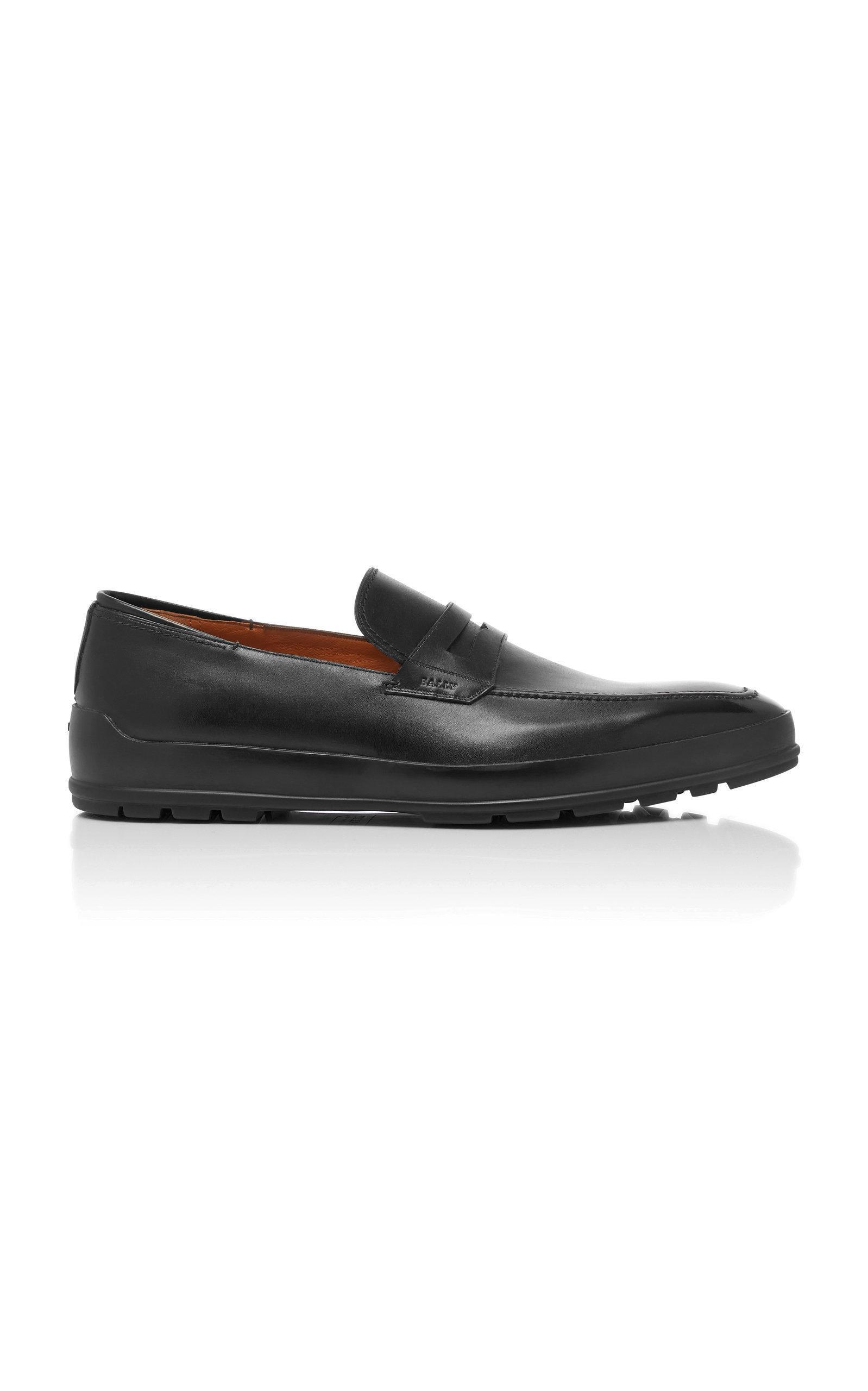5aa05011b21 Bally Relon Calfskin Penny Loafers In Black