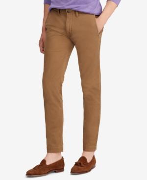 c62901ecaad2 Polo Ralph Lauren Men's Slim Fit Cotton Chino Pants In Nature Brown ...