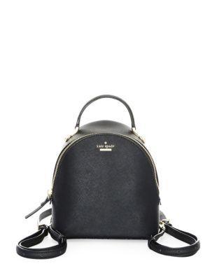 Kate Spade Cameron Street Binx Crossbody Backpack In Black Gold ... c74b91472bab9