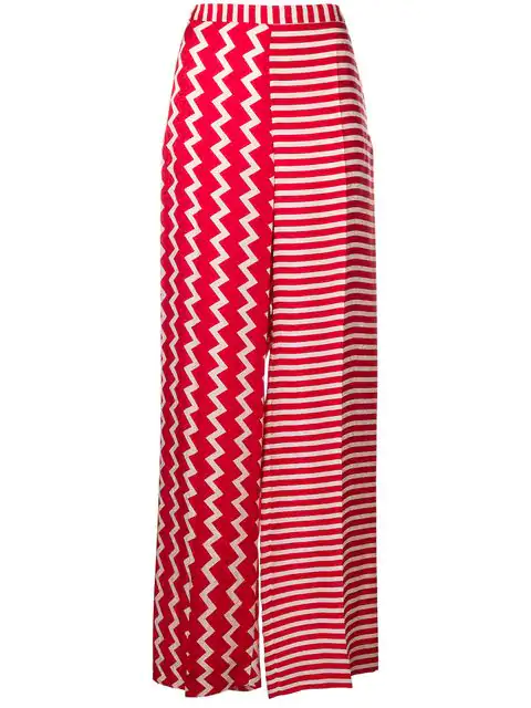Stella Mccartney Contrasting Palazzo Pants In Red