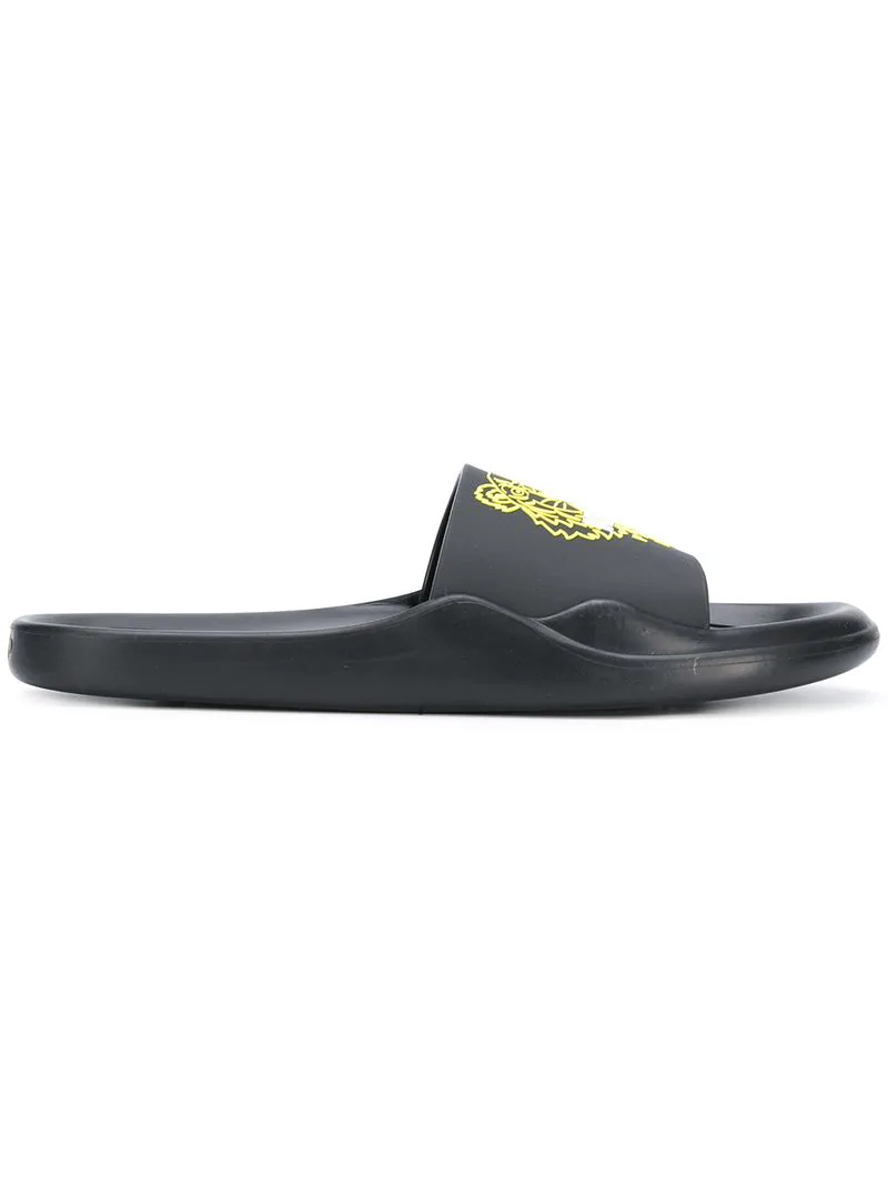 5066312d Kenzo Men's Logo Eva Pool Slide Sandals In Black | ModeSens