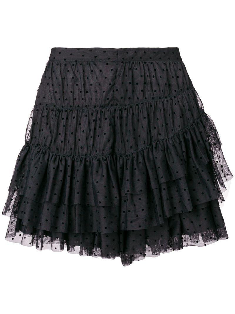 Ulla Johnson Black Tulle Mini Skirt