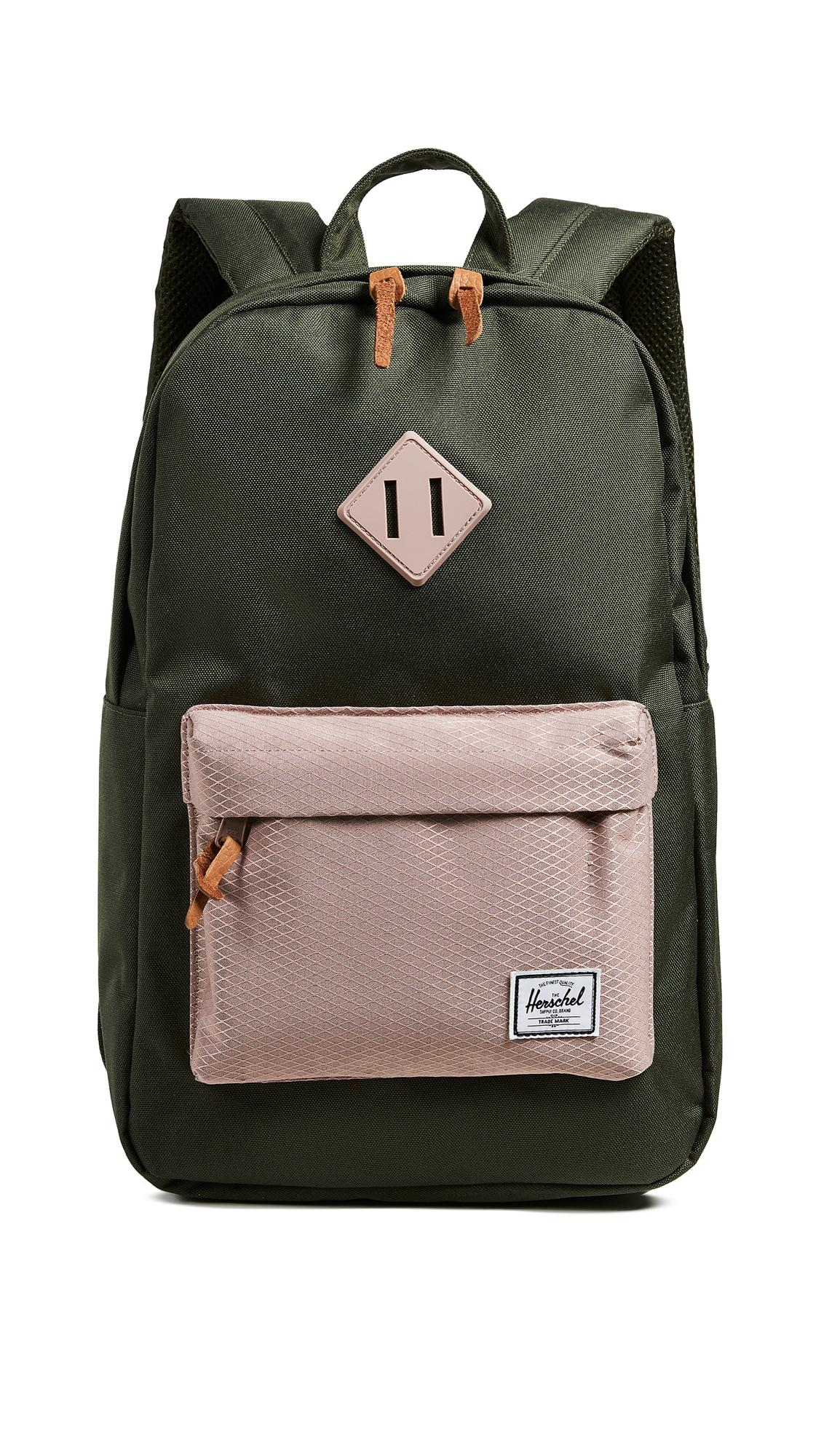 7d901462aed Herschel Supply Co. Heritage Mid Volume Backpack In Forest Night Ash Rose