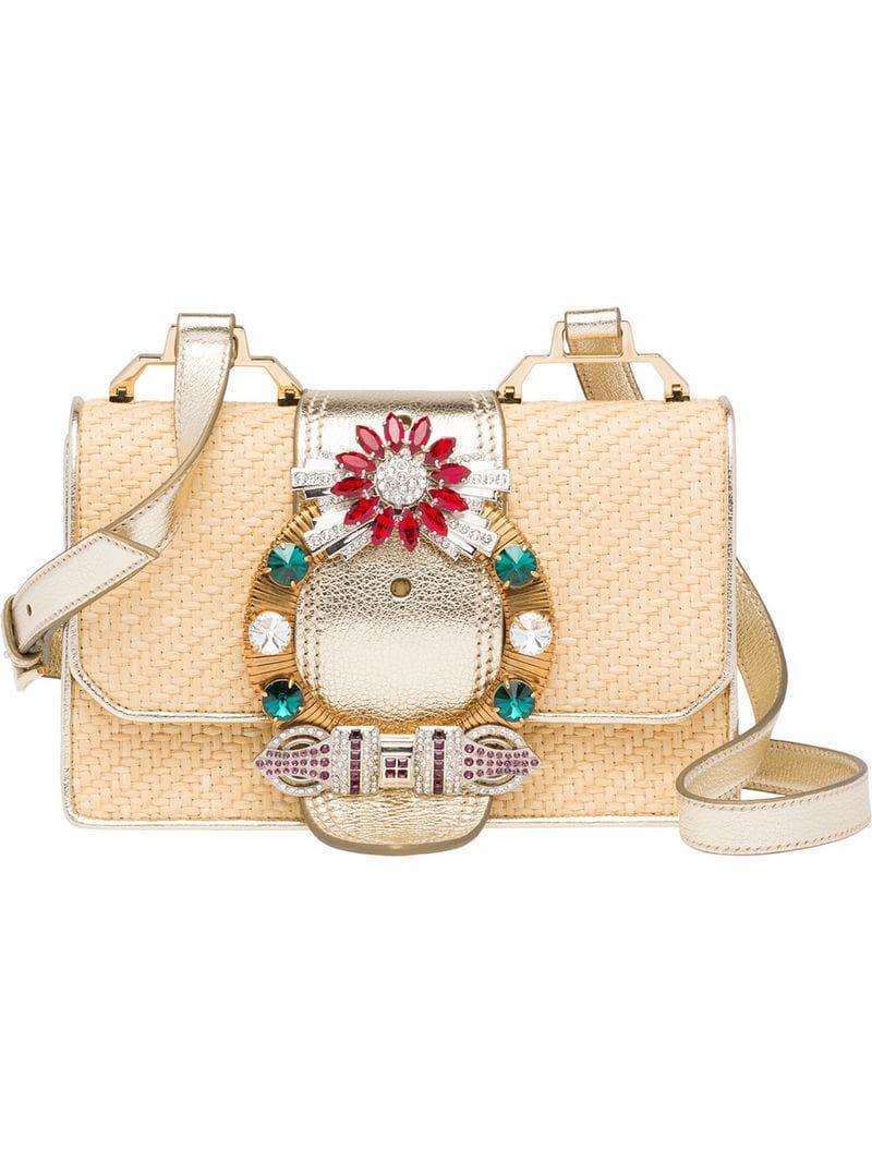 2d78fa647705 Miu Miu Lady Shoulder Bag - Neutrals. Farfetch