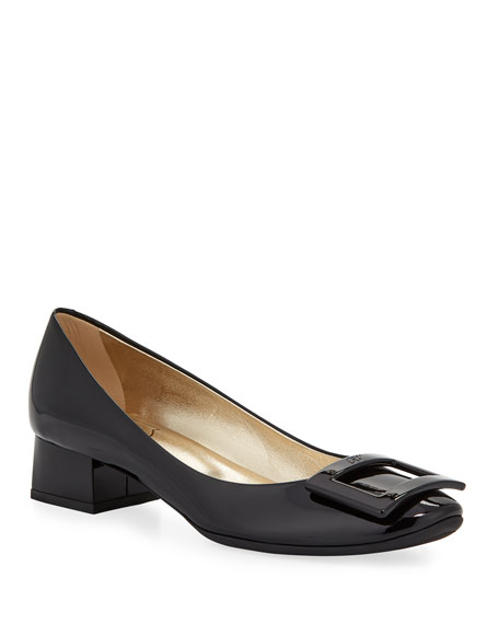 Roger Vivier 35Mm Belle De Nuit Patent Leather Pumps, Black