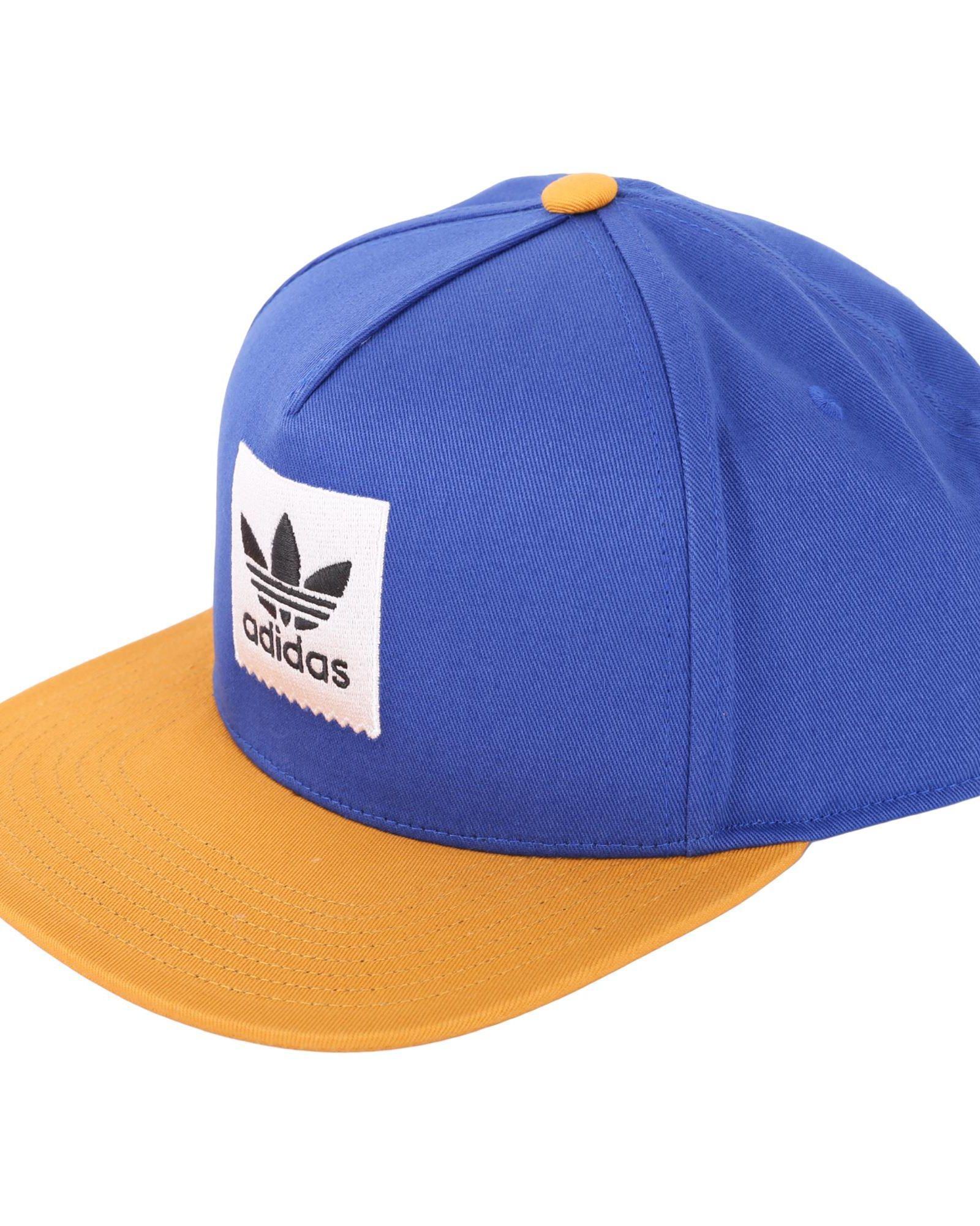 017bb089afd45 Adidas Originals 2Tone Snapback Hat In Blue - Yellow