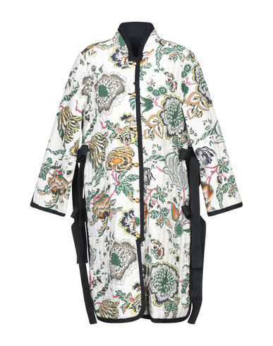 Tory Burch Floral Jacquard Reversible Coat In White