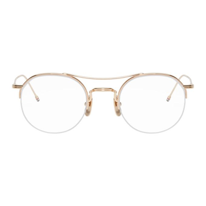 b5e6d4a0f54 Thom Browne Gold Tb-903 Glasses In 12K Gold