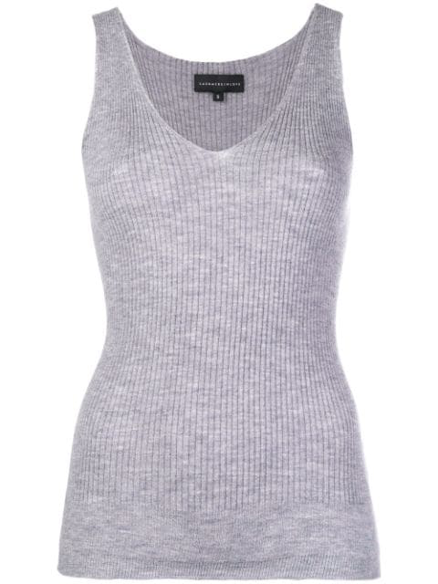 Cashmere In Love Cashmere Tank Top In Grey