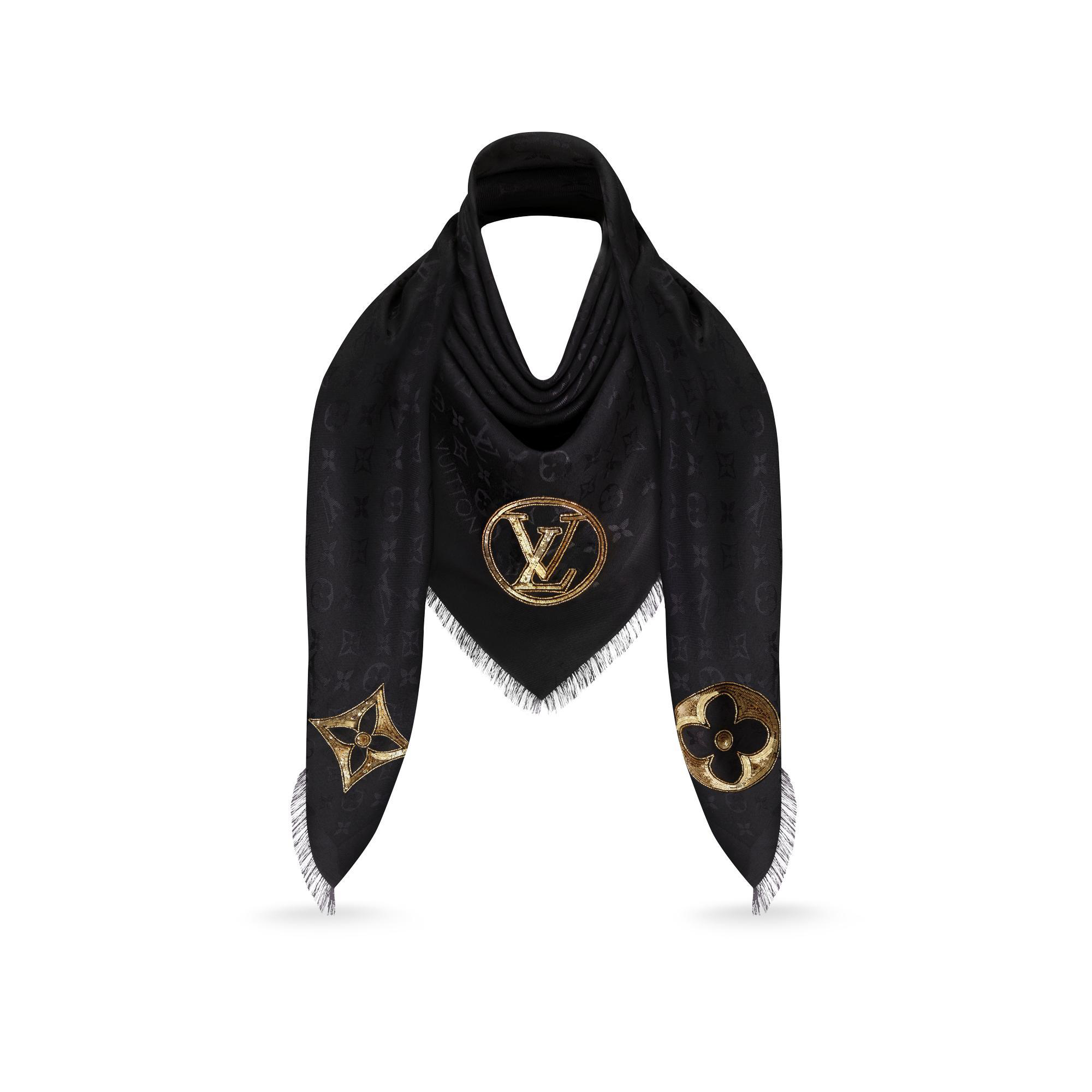 331921a943 Sparkle Lv Monogram Shawl