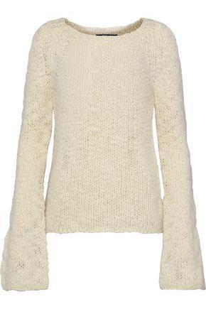 Derek Lam Woman Open-Knit Wool Sweater Ivory