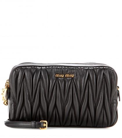 Miu Miu Small MatelassÉ Leather Camera Bag In Usd
