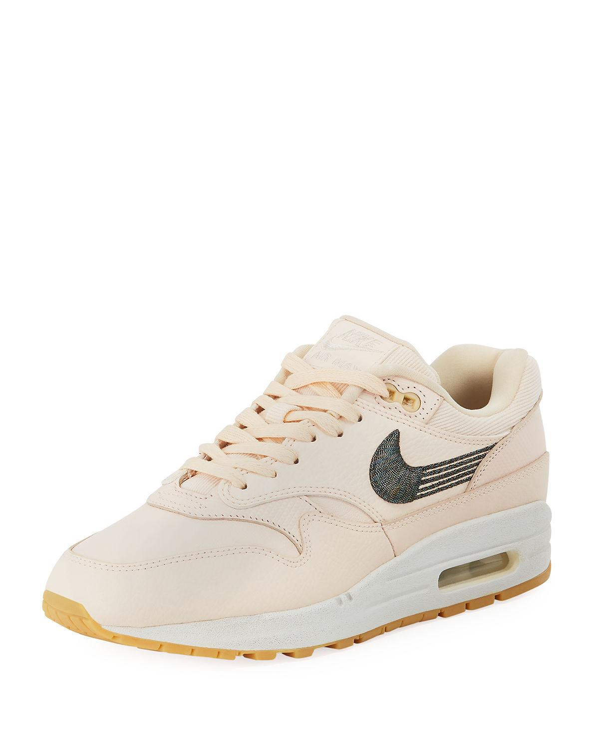 cheap for discount 6d12a bd8f0 Nike Air Max 1 Premium Leather Sneakers In Orange