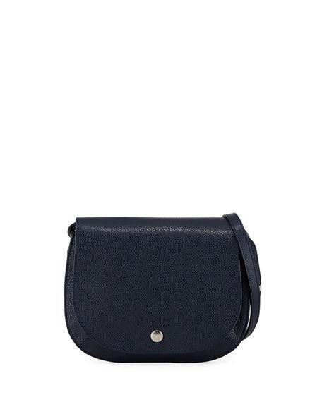 255ea2d8719b2b LE FOULONNE SMALL CROSSBODY BAG. Longchamp pebbled small leather ...