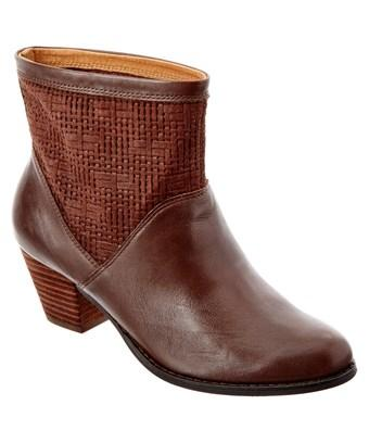 Corso Como Beauty Leather Bootie In Brown