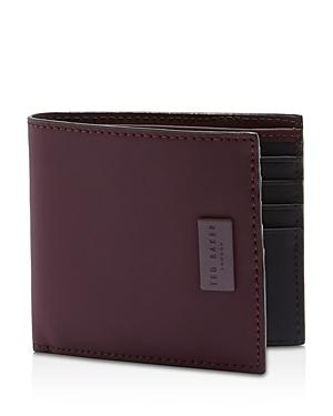 58d05d0f15 Ted Baker Bounce Rubber-Leather Bifold Wallet In Purple   ModeSens