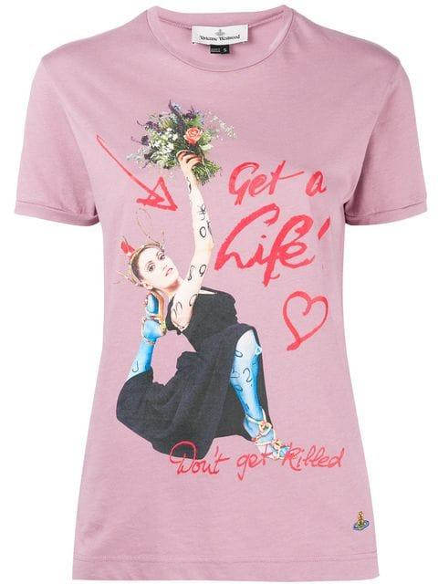 dbb848815 Vivienne Westwood Get A Life T-Shirt - White | ModeSens