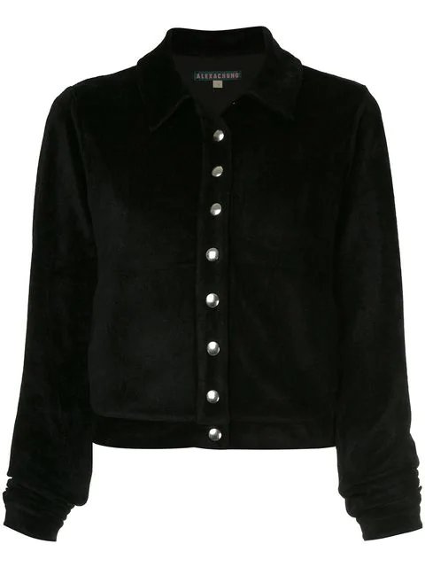 Alexa Chung Shirt Jacket In Black