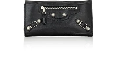 Balenciaga Arena Leather Giant Money Wallet In Black