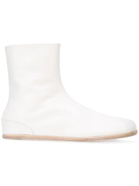 Maison Margiela Tabi Ankle Boots - White