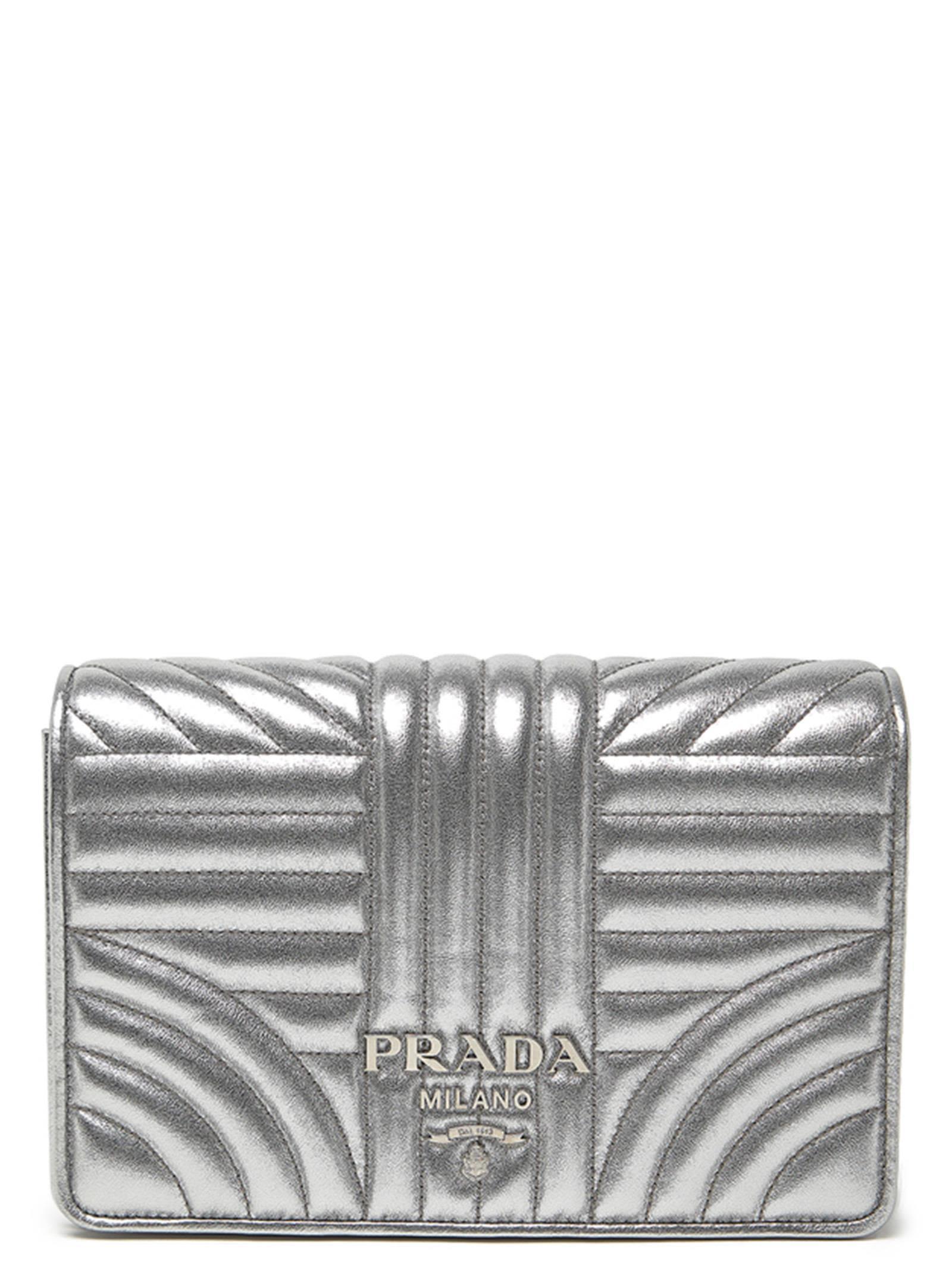 fe83cc4f25e8 Prada 'Diagramme' Bag In Silver   ModeSens