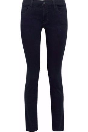 J Brand Woman 811 Low-Rise Skinny Jeans Dark Denim