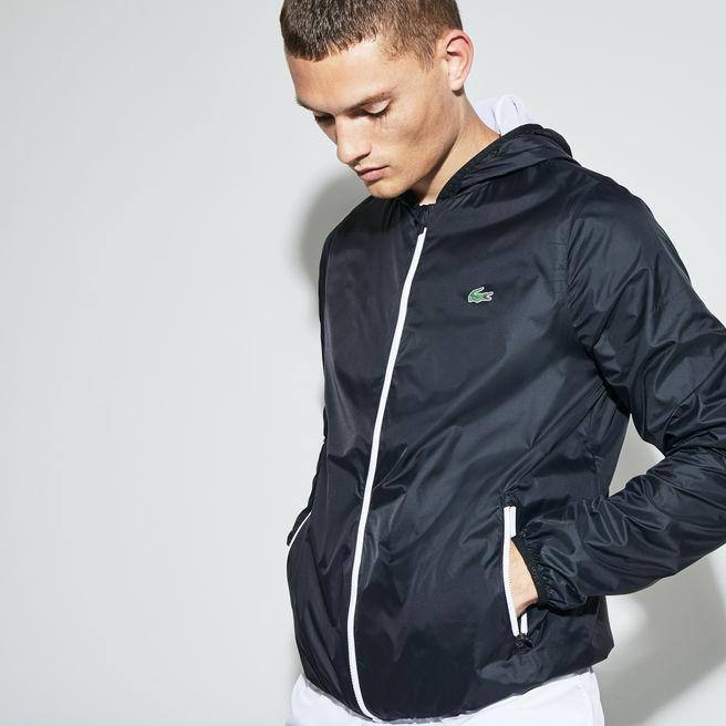 860709cc5 Lacoste Men s Sport Hooded Technical Tennis Jacket In Black
