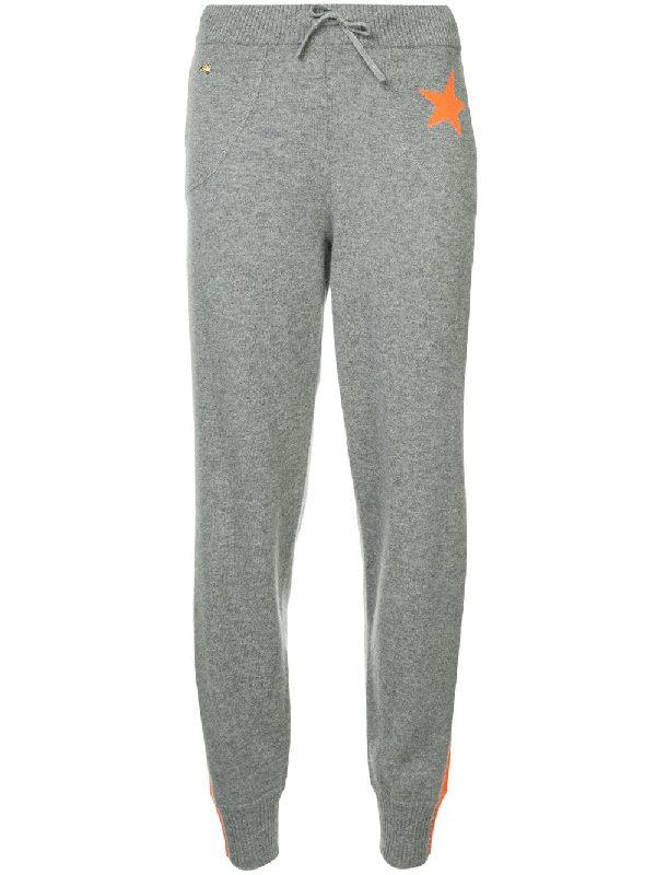 99246e3d Bella Freud Billie Side-Stripe Cashmere Jogger Track Pants In Grey ...