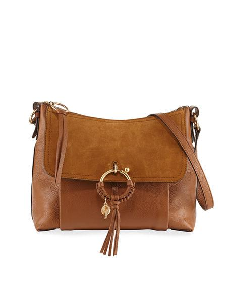 97d757477dca See By ChloÉ Joan Medium Leather Suede Crossbody Bag In Caramello ...