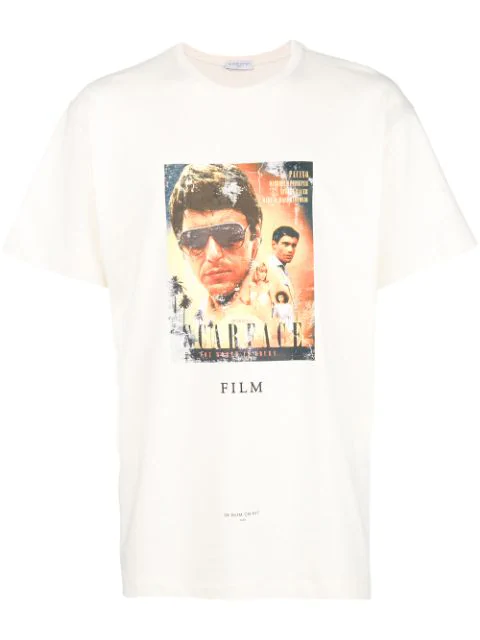 Ih Nom Uh Nit Scarface Movie Poster T In White
