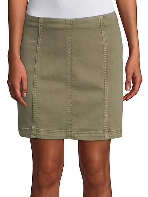 13d0b0503 Free People Modern Femme Denim Mini Skirt In Army | ModeSens