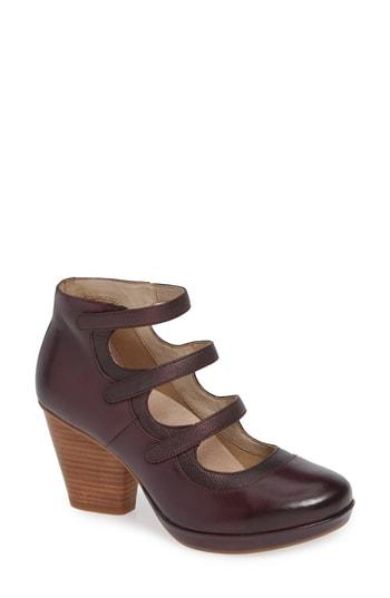 30ce14004ccd Dansko Marlene Mary Jane Pump In Wine Burnished Leather