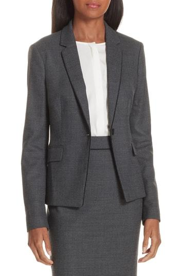 a3eb36ad Boss Jorita Geometric Wool Blend Suit Jacket In Grey Fantasy | ModeSens