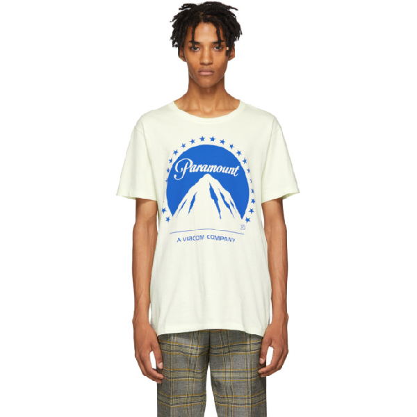7f9e005d Gucci Oversize T-Shirt With Paramount Logo In 7464 White | ModeSens