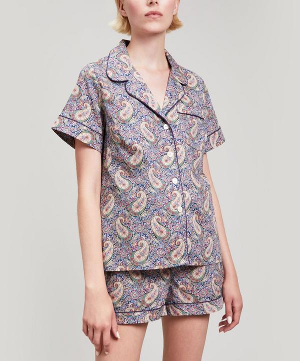 Liberty London Lee Manor Tana Lawn Cotton Short Pyjama Set In Navy