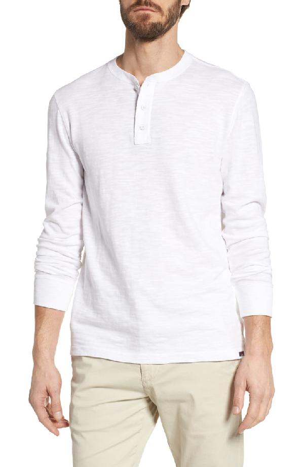 4e5ca06e Faherty Men's Slub Cotton Henley Shirt In White | ModeSens