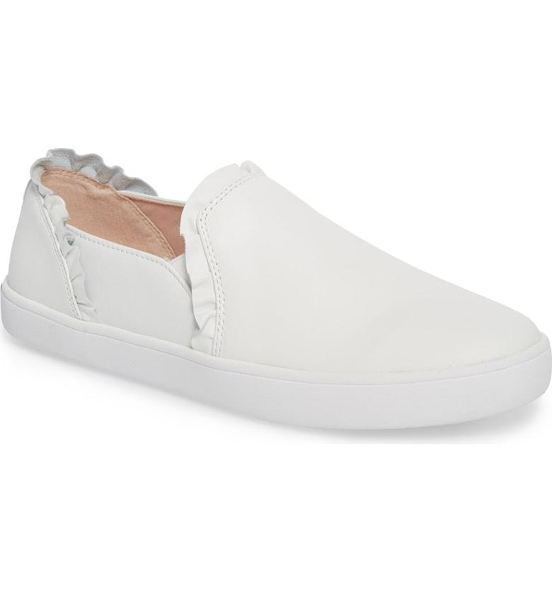 017b3715254c Kate Spade Lilly Ruffle Slip-On Sneaker In White
