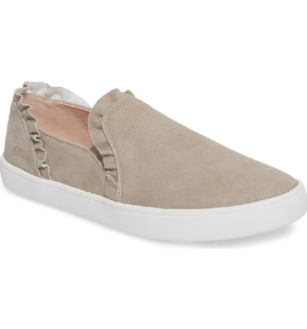 cd731afb4818 Kate Spade Lilly Ruffle Slip-On Sneaker In Grey Suede