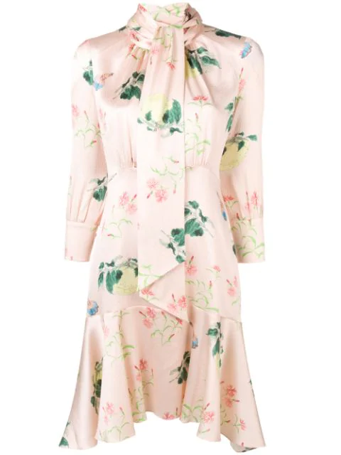 Peter Pilotto Floral Flared Shirt Dress In Pink