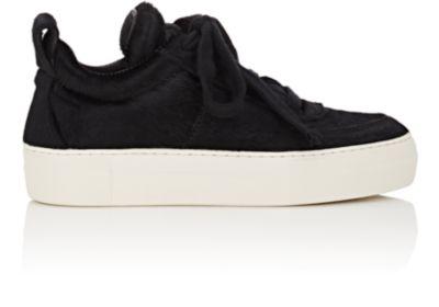 Helmut Lang Padded Fur Sneakers In Black