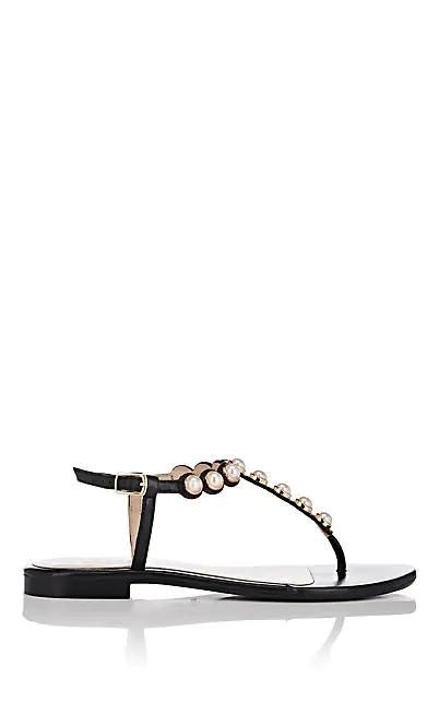 Barneys New York Embellished Thong Sandals In Black