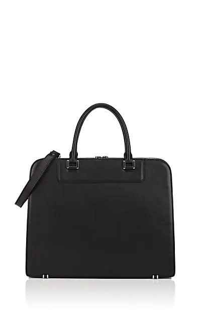 Barneys New York Leather Briefcase - Black