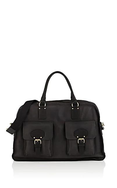 Barneys New York Leather Duffel Bag - Black