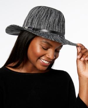 fddb24c81b5 Calvin Klein Marbled-Knit Hat In Black