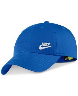 separation shoes f1bdb 6356e Nike Sportswear Cotton Heritage 86 Futura Cap In Signal Blue White