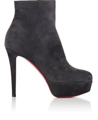 best service 3b82f 6da1f Bianca Suede Ankle Boots - Charbon