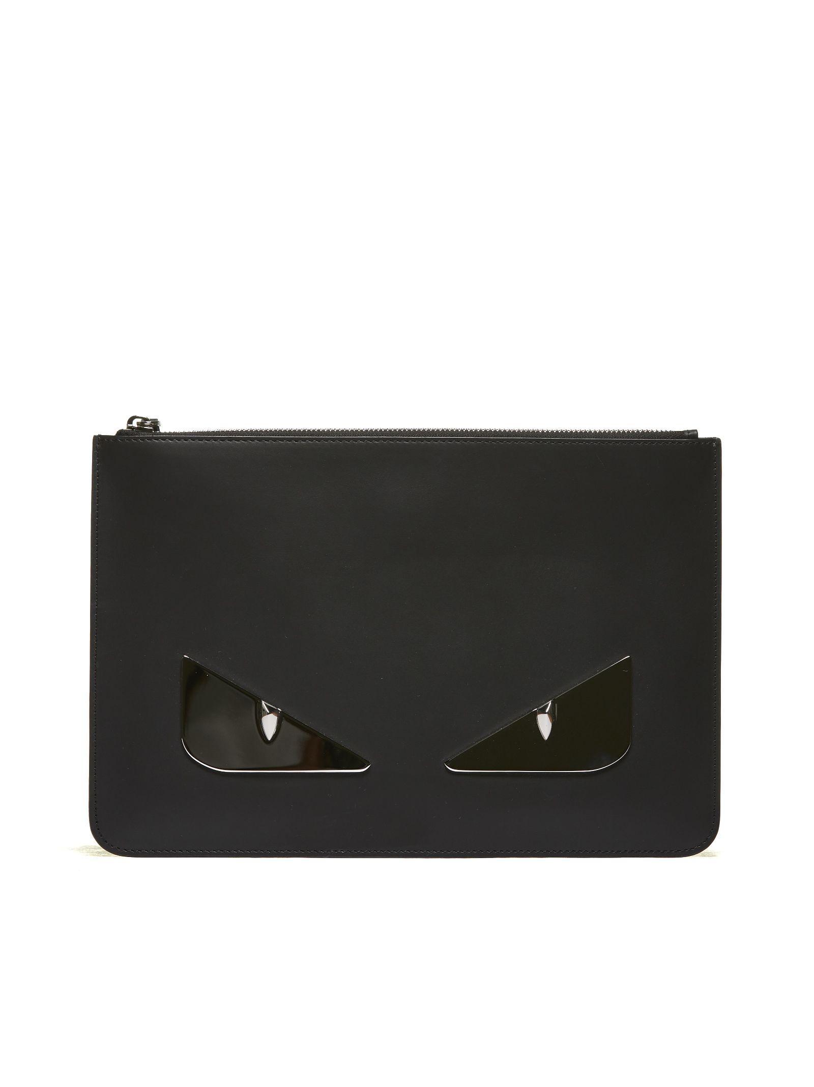 6f8179bbc4cf Fendi Bag Bugs Clutch Bags In Nero Argento